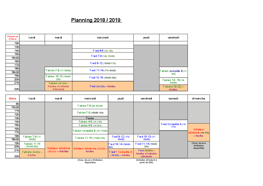 Ecole Escalade 2018-2019 planning-0